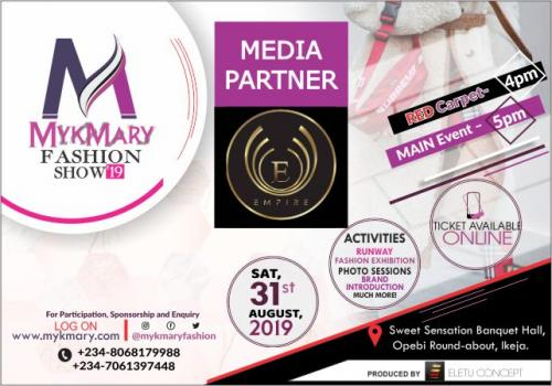Mykmary Fashion Show 2019 Media Partner EMPIRE TV