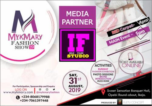 Mykmary Fashion Show 2019 Media Partner IBILE FILM STUDIO