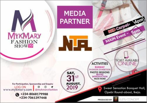 Mykmary Fashion Show 2019 Media Partner NTA