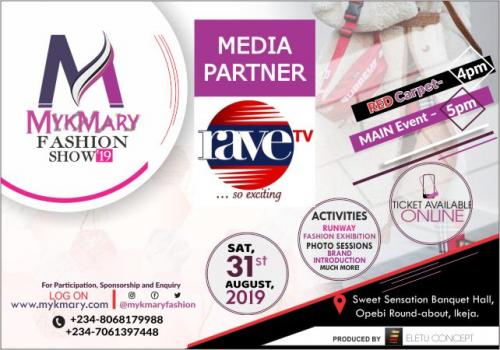 Mykmary Fashion Show 2019 Media Partner RAVETV